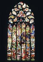 """Das Chorfenster """"Himmelfahrt"""" von Erhard Klonk, 1953"""