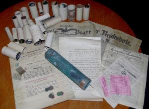 Dokumentenrolle Turmkreuz